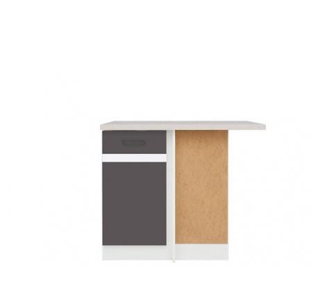Kuchyně Junona Line, spodní rohová skříňka DNW/100/82P, bílá/šedý wolfram