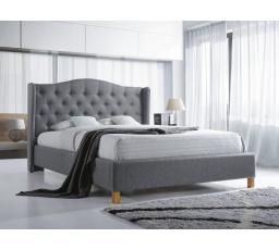 ASPEN postel 140x200 - šedá  - s roštem (ASPEN140SZD) (S) (K150-Z)