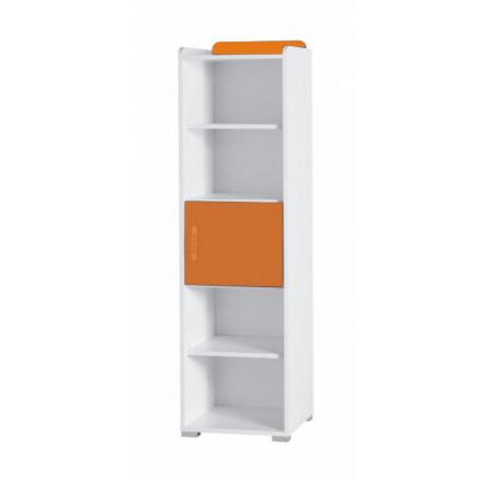 Regál Nemo R5 bílá/oranžový lesk