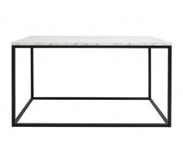 stolek AROZ LAW/100 mramor carrara bílý/černý kovový rám
