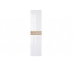 WEKTRA F2 dveře bílý lesk/dub sonoma (vroubkovaný proužek)