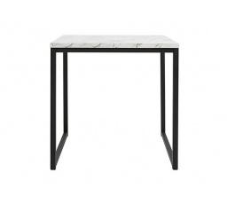 stolek AROZ LAW/50 mramor carrara bílý/černý kovový rám