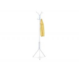 Kovový stojanový věšák, bílý matný lak, výška 174 cm