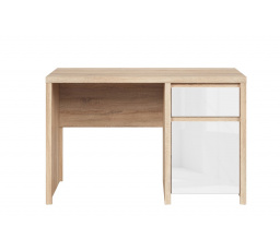 Psací stůl KASPIAN BIU1D1S/120 Sonoma Bílá