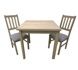 Jídelní set MILÉNIUM 5, stůl + 2 židle, dub sonoma