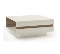 Konferenční stůl LINATE 70 /bílý lesk/dub truflový