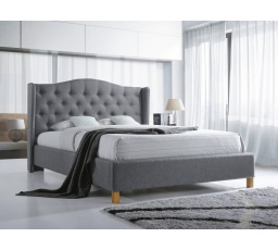 ASPEN postel 180x200 - šedá  - s roštem (ASPEN180SZD) (S) (K150-Z)